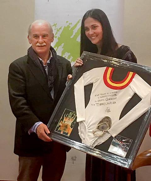 Maria Pardo Rojo junto a Tomas Bustamante Gomez